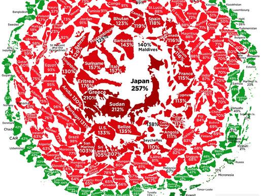 정부 부채를 눈덩이로 시각화