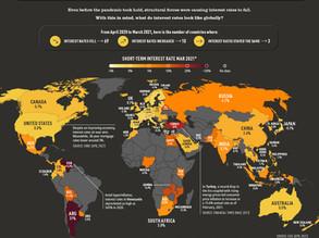 [Visual Capitalist] 2021년 국가별 금리(이자율)