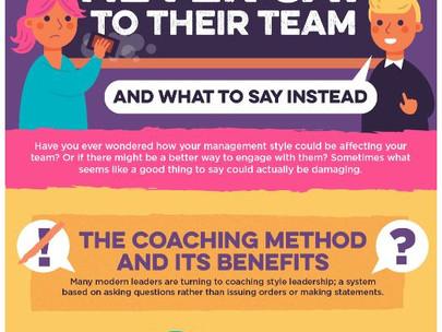[Visual Captialist] 리더가 팀에게 절대 해서는 안되는 말 11 가지