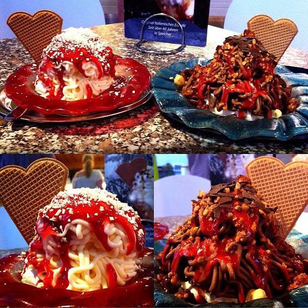 Spaghetti EIS #icecream #spaghetti #food #dessert #sweet #chocolate #strawberry #foodie #foodporn #f