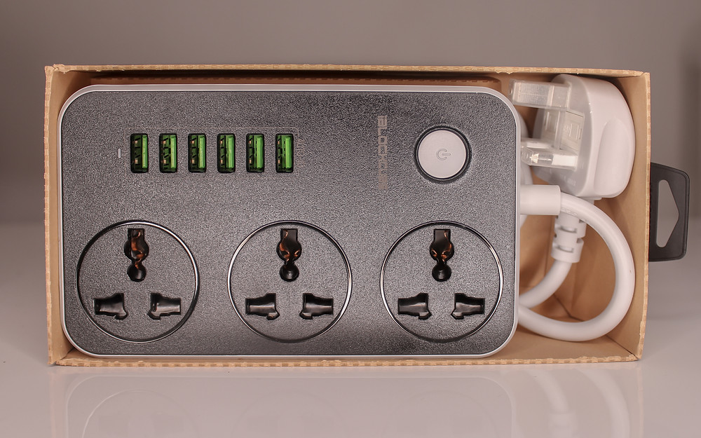 You can plug multiple devices into the power strip no matter if you're using 2 or 3 prongs.
