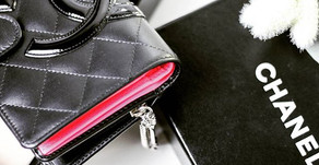CHANEL Cambon Black Quilted Wallet
