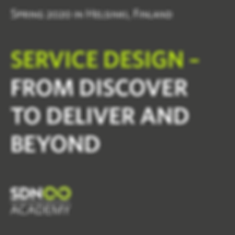Service Design – From Discover to Deliver and Beyond