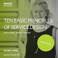 Ten Basic Principles of Service Design