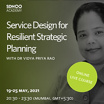 Service Design for Resilient Strategic Planning