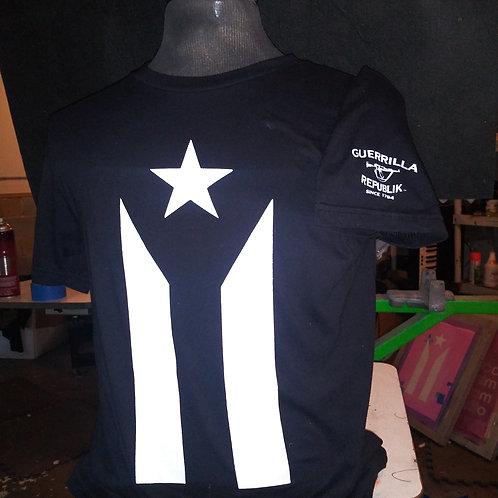 Puerto Rico Black Flag Tee