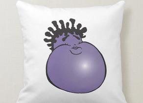 Gordon the Purple Jamaican Yam - Throw Pillow