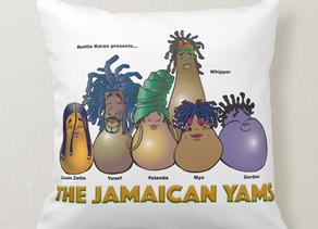 Auntie Karen The Jamaican Yams - Pillow