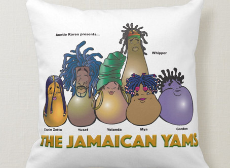 Auntie Karen The Jamaican Yams - Pillow