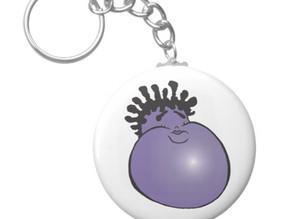 Gordon the Purple Jamaican Yam - Key Ring
