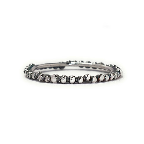 Skinny Eternity Ring in Antiqued Silver