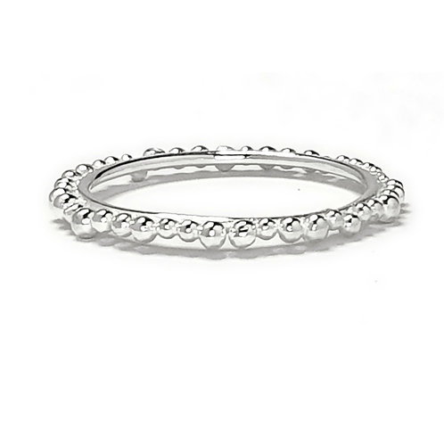 Skinny Eternity Ring in Bright Silver