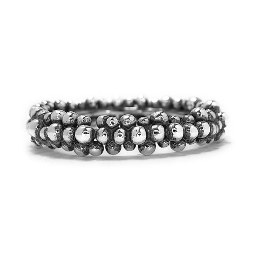Midi Eternity Ring in Antiqued Silver