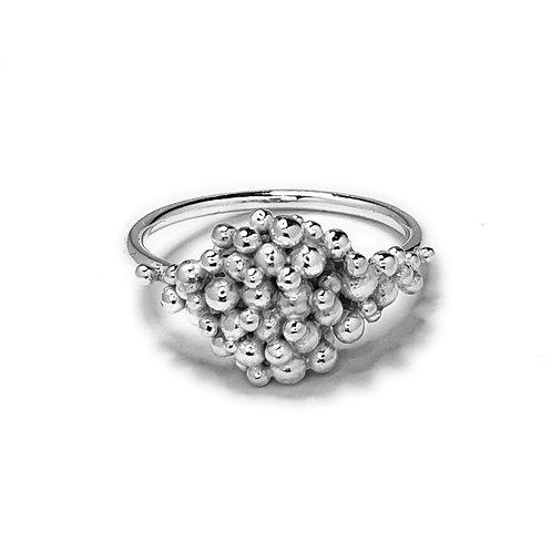 Midi Signet Ring in Bright Silver