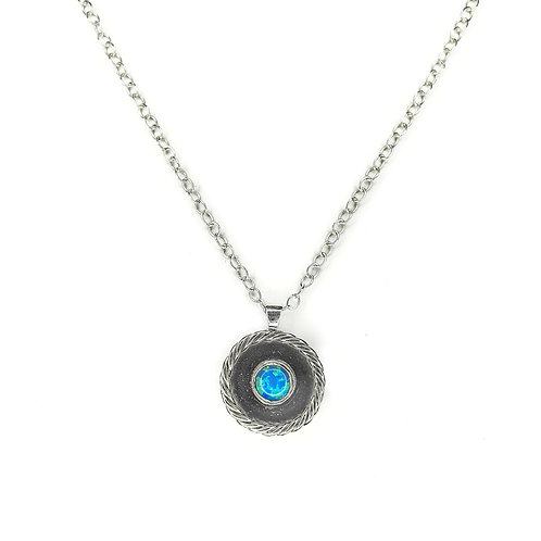 Blue Opal Medallion