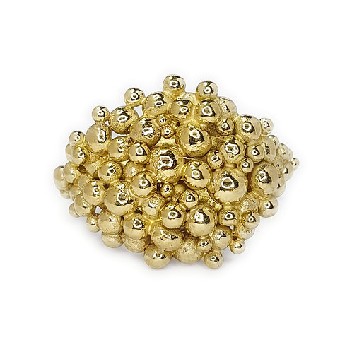 Maxi Signet Ring in 18k Gold Vermeil