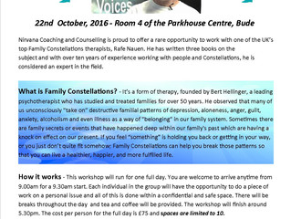 Family Constellations Workshop with Guest Therapist Rafe Nauen