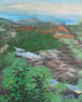 10. 땅(land) 180x145cm 한지에 채색 20