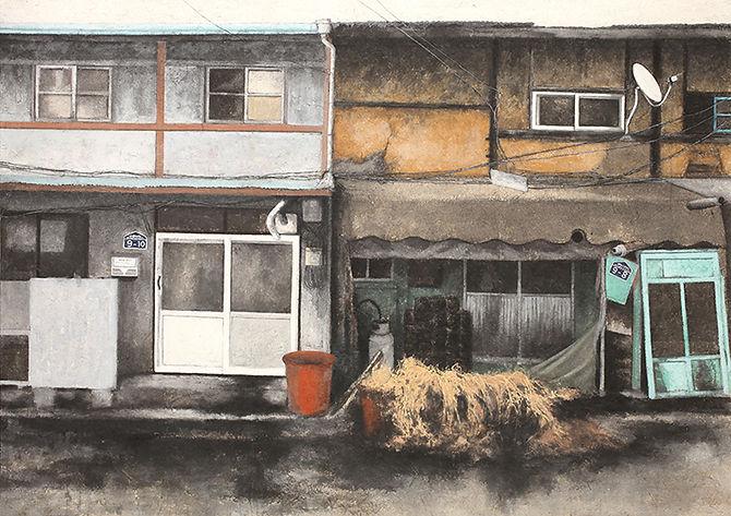 오래된 집-만석동 한지에 채색 162X454cm 2013(우).jpg