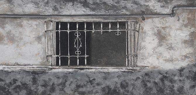 05.전은희 Emptiness-창문 76x152cm 한지에 채색 2015