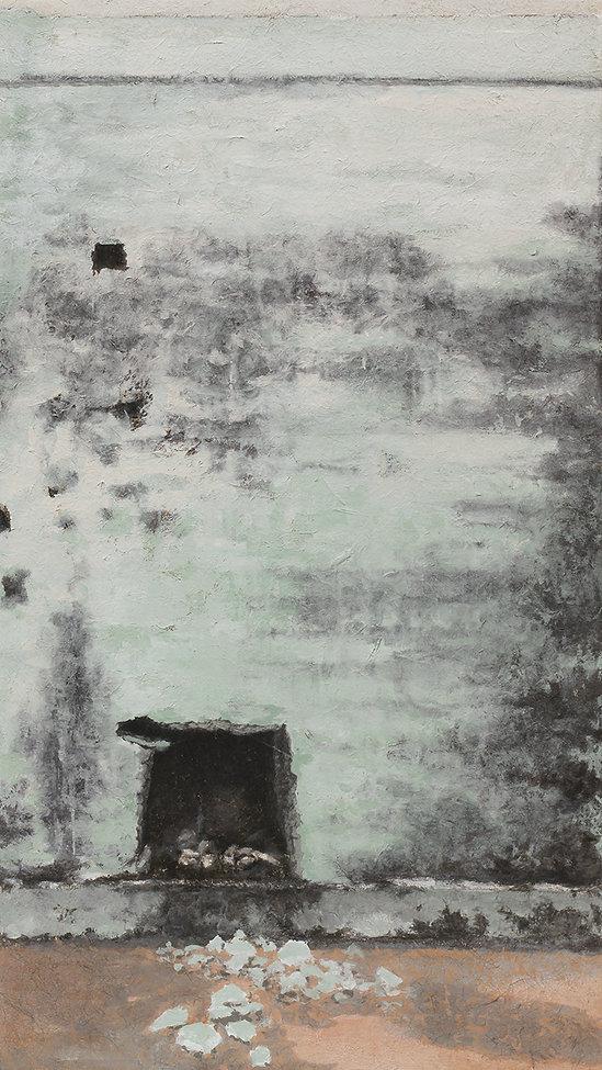 낯선 공간, 133X75cm, 한지에 채색, 2011.jpg
