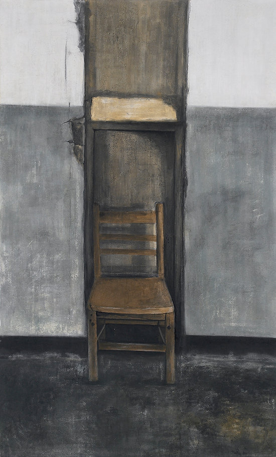 08.emptiness-의자,200x120cm,한지에 채색,2016,.j