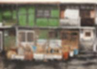 오래된 집-만석동 한지에 채색 162X454cm 2013(좌).jpg