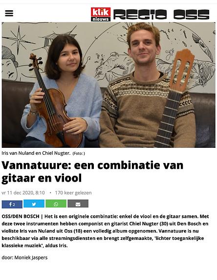 Vannatuure - een combinatie van gitaar e