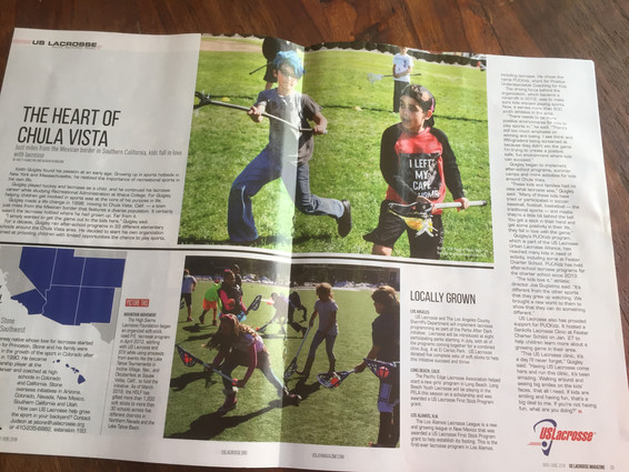 The Heart of Chula Vista article in US Lacrosse magazine!
