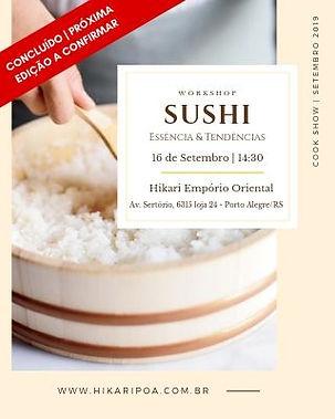 Workshop Sushi&Tendencias Setembro 2019