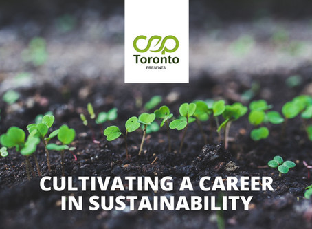 Cultivating a Career in Sustainability