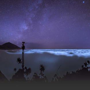 Teide by night