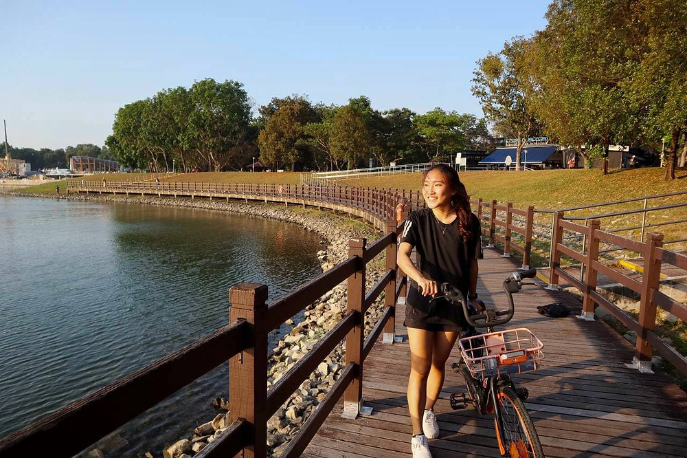 Cycling at Bedok Reservoir