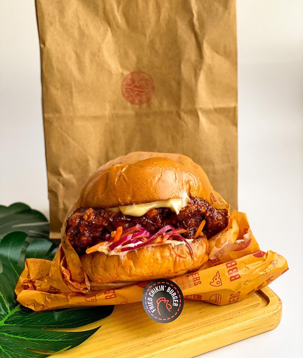 Gochujang Fried Chickin Burger from BBBurgers at Punggol Plaza