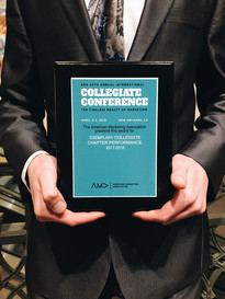 AMA PBA recognized for excellence in chapter performance at the AMA 2018 Collegiate Conference.