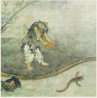 国宝「瓢鮎図」をモチーフにした天然毛手植えブラシ「鯰親子ブラシBODY&FACE」