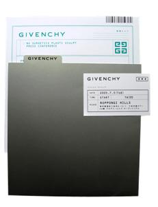 GIVECHY 招待状デザイン