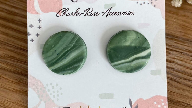 Marbled green studs