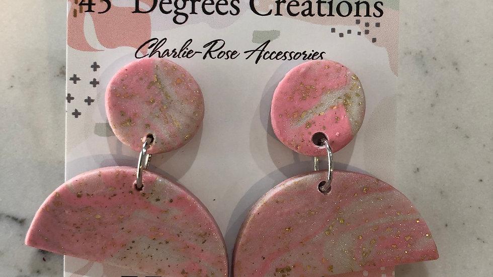 Medium half circle drop earrings