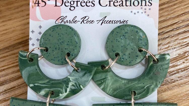 Round green swirl