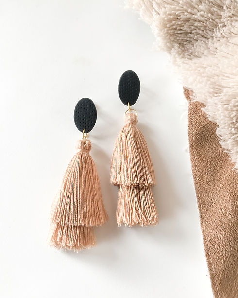 large polymer clay statement tassel earr