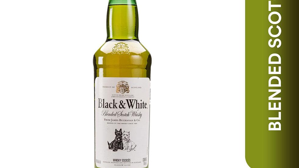 WHISKY BLACK & WHITE BOTELLA BLACK & WHITE