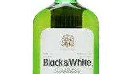 WHISKY BLACK & WHITE 1/2 BOT BLACK & WHITE