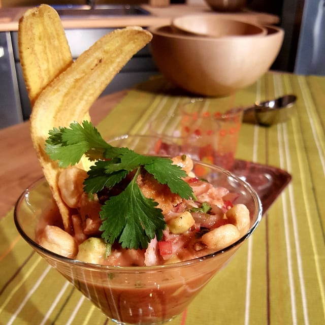 Caribbean Snapper ceviche