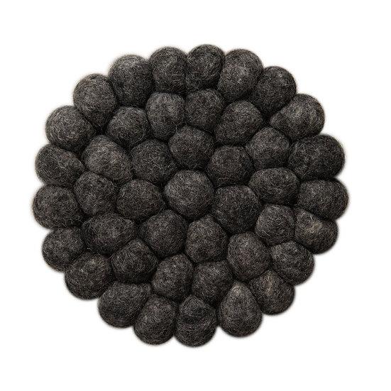 Natural wool mørkegrå dækkeserviet