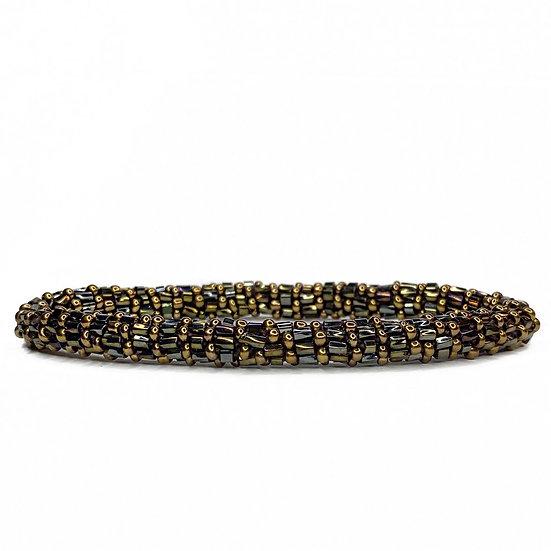 Roll on armbånd kobber/bronze