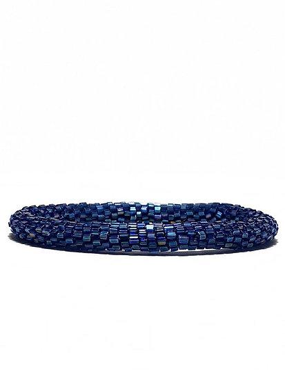 Roll on armbånd blå