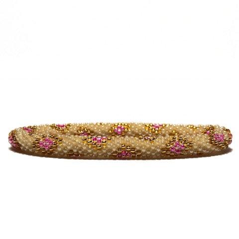 Roll on armbånd rosa