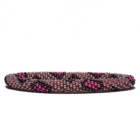 Roll on armbånd leopard