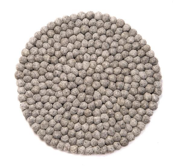 Natural wool lysegrå stolehynde